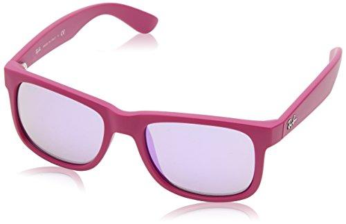 Ray-Ban Unisex Wayfarer Sonnenbrille Justin, Gr. One Size (Herstellergröße: One Size), Violett (Pink 60894V)