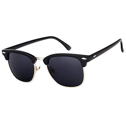WERERT Sportbrille Sonnenbrillen Vintage Semi-Rimless Sunglasses Women/Men Polarized Uv400 Classic Retro Sun Glasses