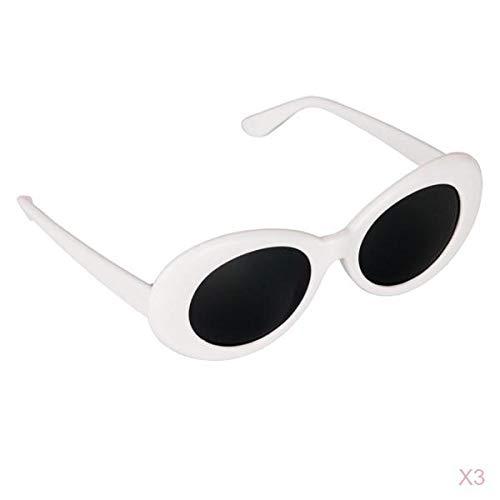 MagiDeal 3X Retro Gafas Clout Goggles Oval Bold Mod
