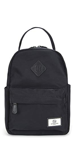 SEVENTEEN LONDON - Moderner und stilvoller 'Mayfair Mini' Rucksack in schwarz mit einem klassischen Design - perfekt für Tablets