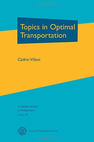 Topics in Optimal Transportation (Graduate Studies in Mathematics)