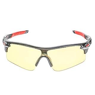 A-SZCXTOP UV 400 Sportbrille zum Biken. Outdoor Sport Brille Sonnenbrille Radbrille mit Radfahren Laufen Angeln Baseball mit Fischerei Fahren Fahrrad Wind-proof Goggles Sunglasses night Vision