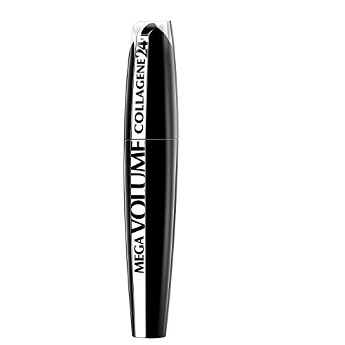 L'Oréal Paris Mega Volume Collagene Mascara, Lunga Durata, Volumizzante con Maxi Applicatore in Setole, Nero