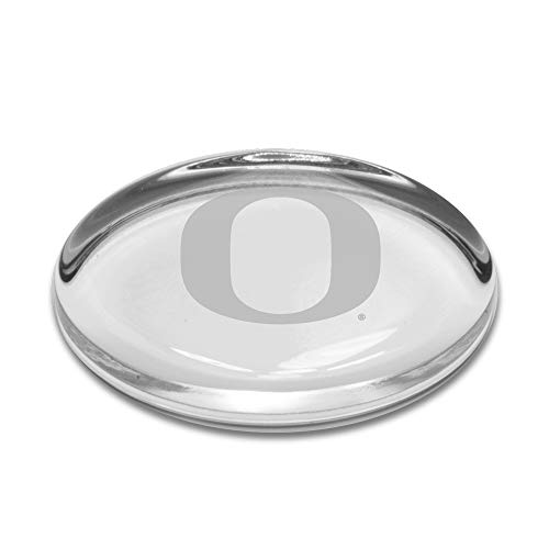 University Glass NCAA Oregon Ducks Oval Paperweight, Clear, One Size