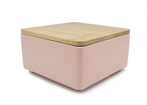 PAISY Schmuckbox - die einzigartige Kombination aus Beton und Holz   Schmuckkästchen, Schmuckschatulle, Schmuckaufbewahrung und Ablage von Ringen, Ohrringen, Ketten, Uhren und Accessoires