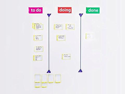 Scrum board tool kit set pour agile scrum kanban - magnétique aimant cards - home