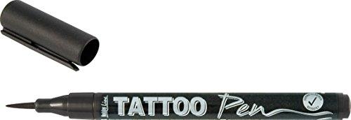 Kreul 62105 - Hobby Line Tattoo Pen, 0.5 - 3 mm, schwarz