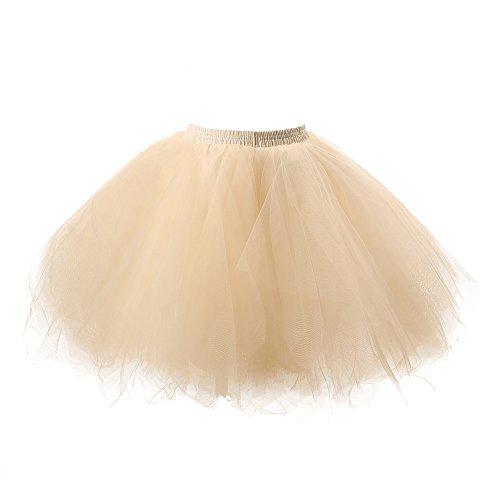 Honeystore Damen's Tutu Unterkleid Rock Abschlussball Abend Gelegenheit Zubehör Champagner (Damen-schuhe Ebay)