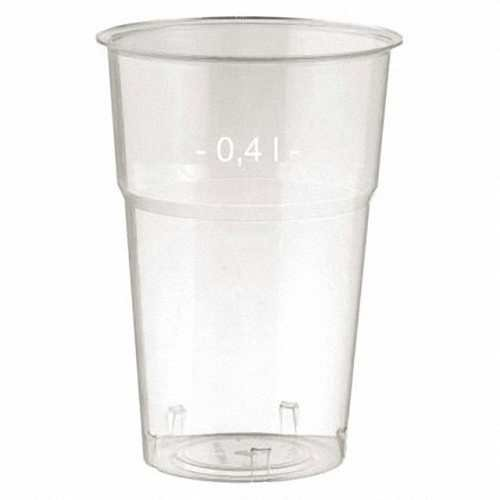 200 Stk. Brillant klare Trinkgläser 400ml mit Füllstrich, Ø 95 mm