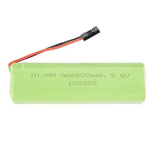 RC 9.6V 2600mAh AA NI-MH Rechargeable Square/Flat Battery Pack with Futaba Connector for RC Futaba Hitec JR Nimh Flat-pack