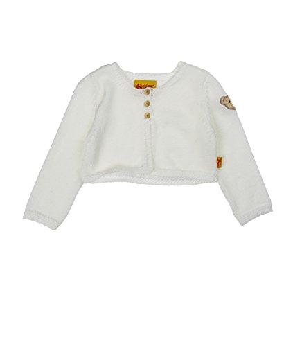 Steiff Baby - Mädchen Strickjacke 1/1 Arm 6513127, Einfarbig, Gr. 80, Elfenbein (Blanc De Blanc White 1035)