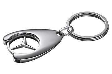 Porte cle jeton caddy Mercedes classe A B C E S SLK SL CL CLK ML G CLS