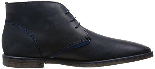 Diesel Chaussures à lacets pour hommes PALKY KLAWNY MID Bleu Foncé