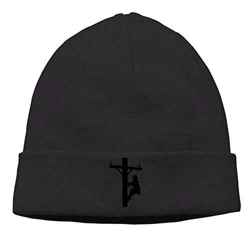 Funny Hip hop Unisex Fashion Woolen Cap for Men Women, Lineman Electrician Power Skull Cap