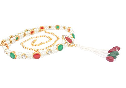 Exclusive Designer Kamar Bandh Gold Plated kundan Belly Chain kamarbandh For Women,mother,sister, fience By MTC JEWELLERS Especial Rakhee Offer Hurry Up Offer Only Limited Time (105)  available at amazon for Rs.220