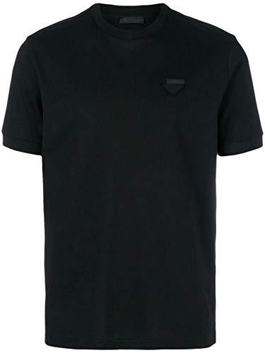 Prada Herren Ujn452xgsf0002 Schwarz Baumwolle T-Shirt