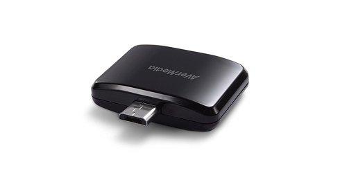 AVerMedia AVerTV Mobile-Android - Sintonizador de TV (DVB-T, 174 - 862 MHz, Micro USB, Android, Tegra 3) negro