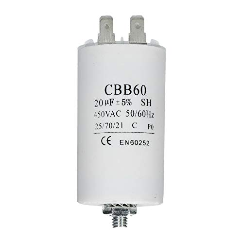Kondensator Anlaufkondensator Motorkondensator Motor 20µF / 20 uFbis 450V mit 6,3mm AMP -