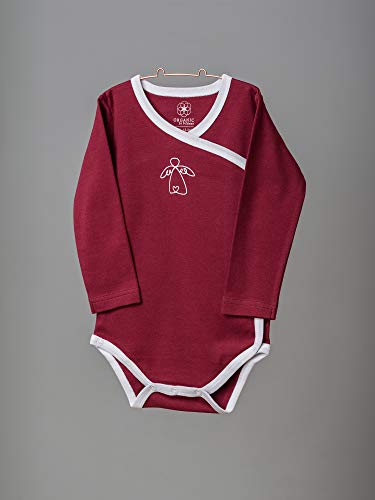 Organic by Feldman Unisex Baby Body Langarm Wickelbody aus Bio Baumwolle, GOTS Zertifiziert, Schutzengel Rot, (74/80) - 5