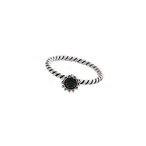 DTZH Ringe Ringe im Set Damen S925 Sterlingsilber Mode Retro-Twist Thai Silberring Freundin Geburtstag Europa und die Vereinigten Staaten Wind Zubehör, geschickt