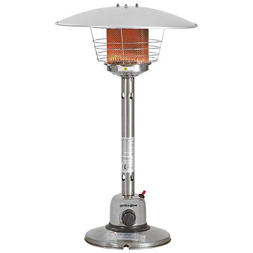 Garden Glow 4kw Table Top Gas Outdoor Patio Heater with Variable Heat Control (Table Top Patio Heater)