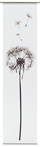 GARDINIA Flächenvorhang (1 Stück), Schiebegardine, Blickdicht, Flächenvorhang Stoff Digitaldruck Pusteblume, Weiß, 60 x 245 cm (BxH)