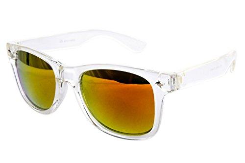 Nerdbrille Sonnenbrille Nerd Atzen - Weiß Bunt Verspiegelt Transparent