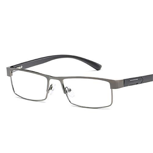 Yangjing-hl PrintedReading Glasses Women Presbyopia Eyeglasses Men Resin LensSemi randlose Business Lesebrille Coated Lenses Prescription -