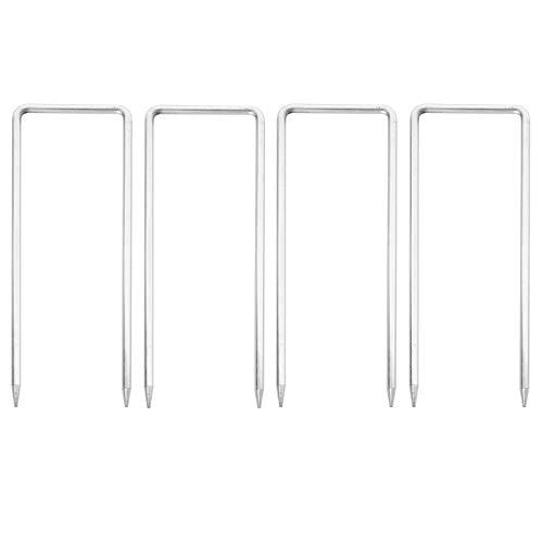 Mendler 4X Fixiernagel für Absperrgitter HWC-B34, Erdnagel Hering Erdspieß für Scherengitter Zaun Schutzgitter
