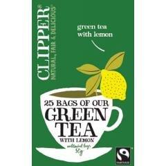 Clipper Teas - Green Tea - Fairtrade Green Tea with Lemon - 100g