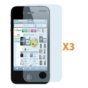 Fosmon Technology Fosmon Crystal Clear Screen Protector Shield for Apple iPhone 4 / 4S - 3 pack