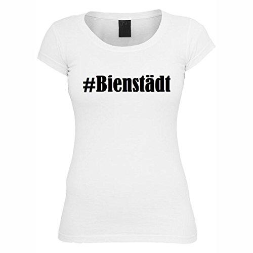 T-Shirt #Bienstädt Hashtag Raute für Damen Herren und Kinder ... in den Farben Schwarz und Weiss Weiß