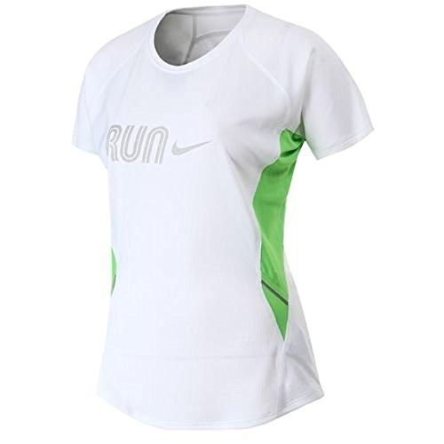 Nike Women' s Dri Fit a maniche corte running T Shirt (458083110), bianco, M