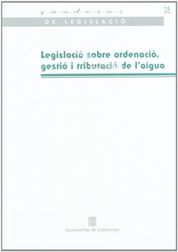 Legislació sobre ordenació (Quaderns de Legislació)