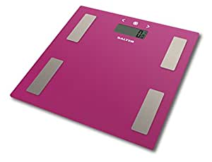 Salter 9150 Glass Analyser Electronic BMI Digital Bathroom Scale - Pink