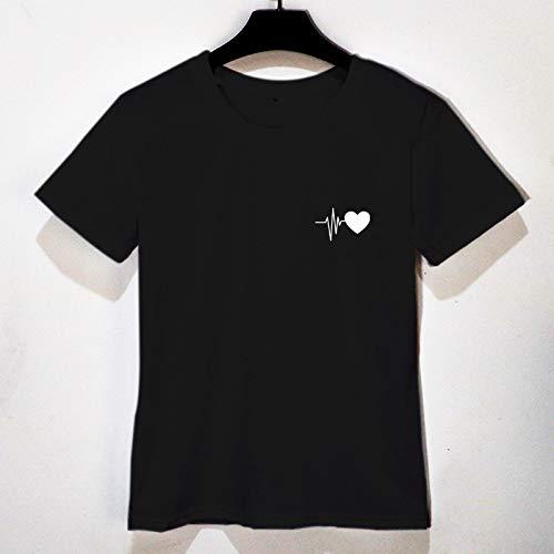 Sommer Größe Frauen Bluse T-Shirt T-Shirt Schwarz 1 S