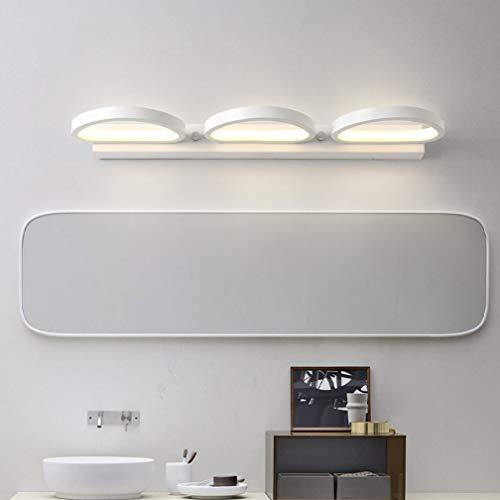 Modernas lámparas de espejo LED Apliques redondos creativos Clásico espejo blanco mate...