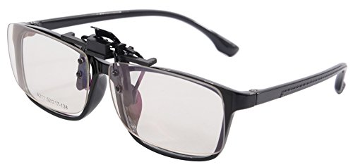 Preisvergleich Produktbild SHINU Herren Blublocker Clip on UV 400 Anti Blue Ray Computer Glasses Reducing Eye Strain Protect Screen Glasses (balck (clips on &glasses ))