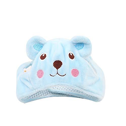 Isuper Haustiere Winter Mütze Kostüm Lustige Nette Einstellbare Süße Tier Form Hund Katze Hut Kappe Kostüm Zubehör, Blau Bär, Größe - Bär Hut Kostüm