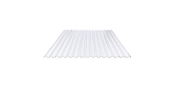 St/ärke 1,4 mm Breite 1095 mm Lichtplatte Farbe Klarbl/äulich Profil 70//18 Material PVC Spundwandplatte