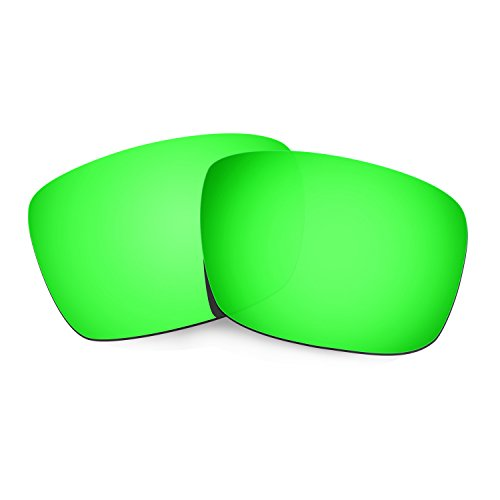 HKUCO Plus Mens Replacement Lenses For Oakley Fuel Cell Sunglasses Emerald Green Polarized
