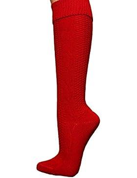 Trachtensocken Kniestrümpfe Rot 684R