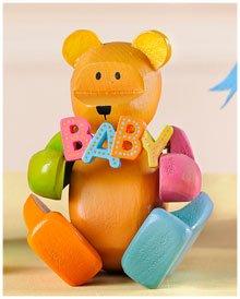 Bär Sammlung ('Pozy' Sammlung ~ Dekofigur Bär Bären aus Holz (Teddybär) ~ 'Oh Baby')
