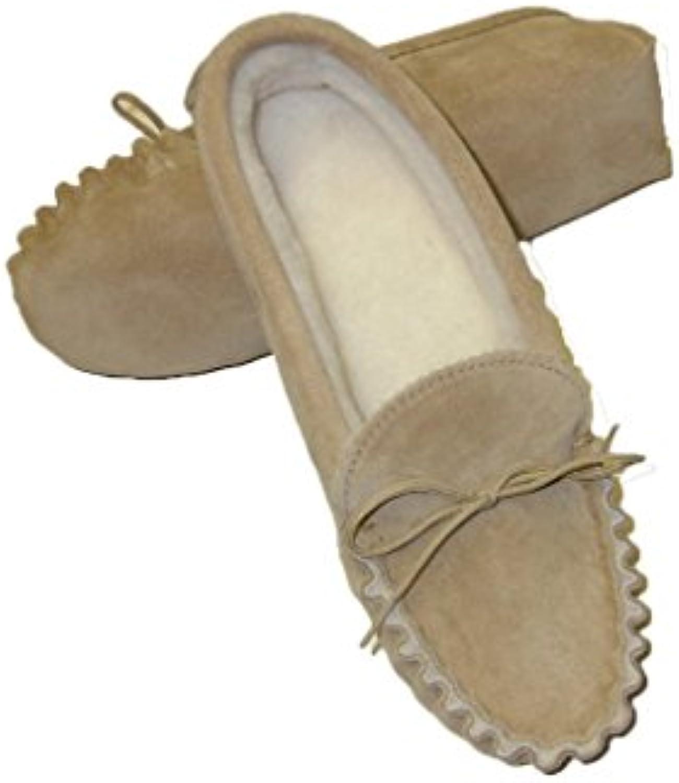 Pixieland Zapatillas de estar por casa de Ante para hombre Beige beige -