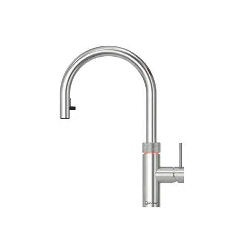 Quooker Flex COMBI+ 2.2 Kochendwasserhahn / Kochendwasser-Armatur & Mischbatterie / ausziehbarer Auslauf / verchromt glänzend (CHR)