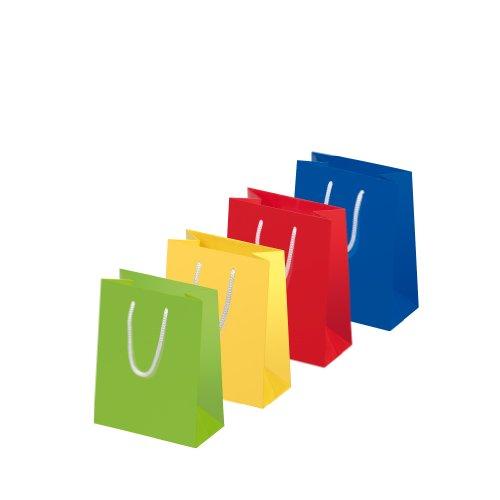Susy Card 11277688 Geschenktaschen Uni Sortiment, 10-er Packung, glänzendes Papier