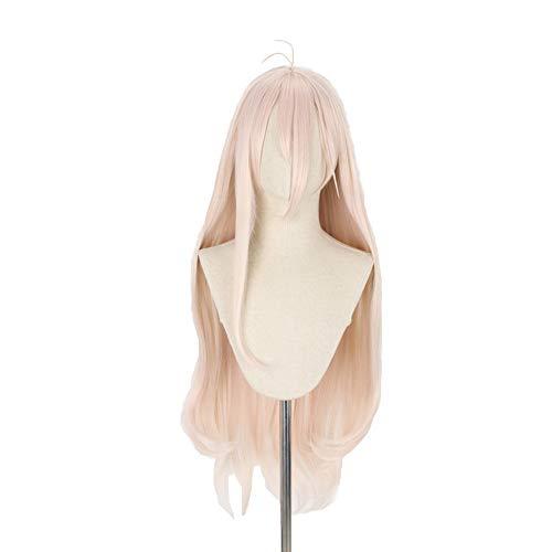 LZT 90cm/35.43''Anime Long Wavy Pink Cosplay Kostüm Perücke für Miu Iruma Cosplay Perücke mit Free Cap (Kostüm Der Comic Con)
