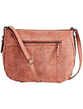 s.Oliver RED LABEL Damen Shoulder Bag mit Lasercut-Muster terra cotta 1