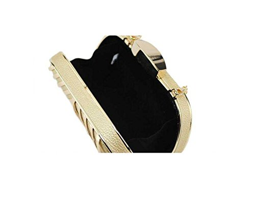 Signore Il Sacchetto Del Pranzo In Metallo Personalizzata Cava Signore Della Borsa Trousse Black