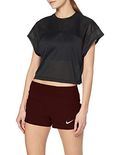 Nike Damen W NK Eclipse 3IN Shorts, EL Dorado/Reflective Silver, M